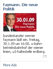 Facebook SPÖ Werner Faymann Kampagne