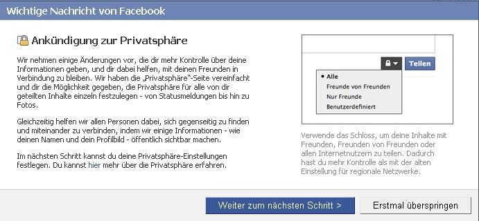 facebook-privatsphaere